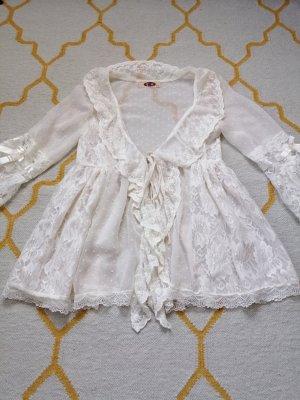 Vintage Veste chemisier blanc