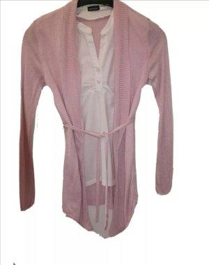 Felpa kimono rosa chiaro-fucsia neon Tessuto misto