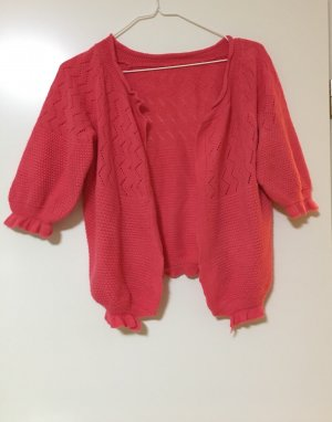 Short Sleeve Knitted Jacket bright red