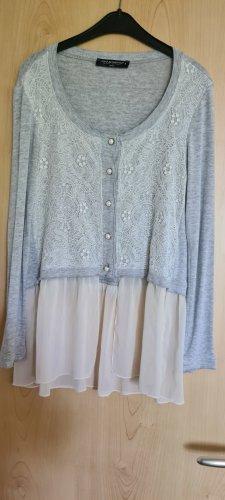 La Rinascimento Chaqueta tipo blusa gris claro-beige claro
