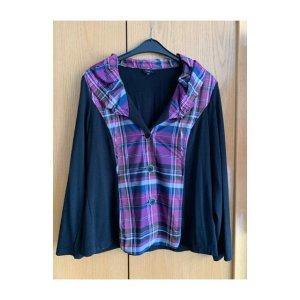 Bexleys Veste chemise noir-violet