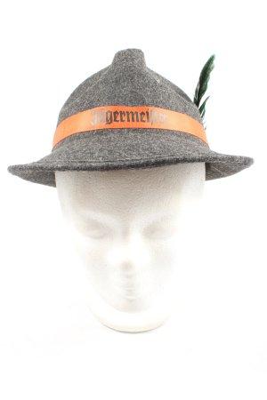 jägermeister Tradycyjny kapelusz jasnoszary-jasny pomarańczowy Melanżowy