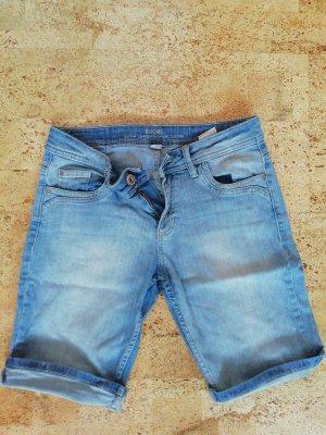 s. Oliver (QS designed) Denim Shorts slate-gray-pale blue