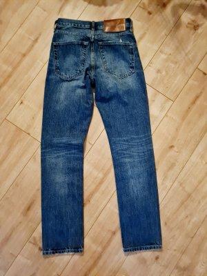 B/W Zara Collection High waist short lichtblauw-blauw