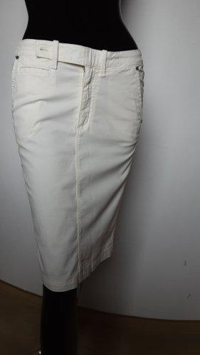 Jaggy, weißer figurbetonter Beistiftrock, Gr. 38