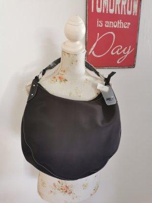 Jago Accessoires Damen Handtasche Textil Shopper Henkeltasche schwarz