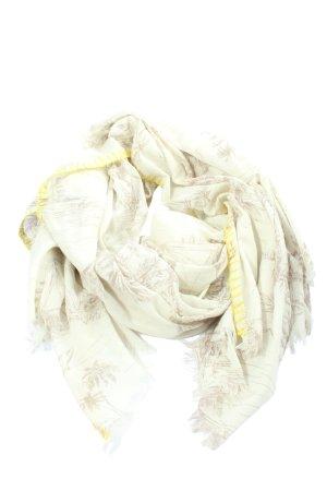 Jago Summer Scarf cream-light grey themed print casual look