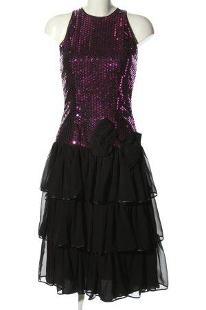 Jahn & Pill Abendkleid schwarz-pink Elegant
