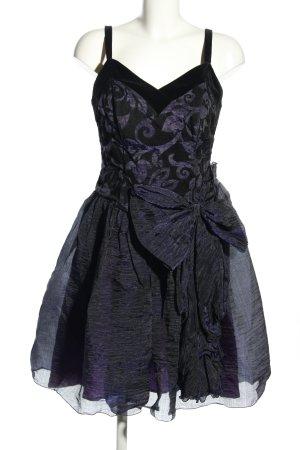 Jahn & Pill Trägerkleid schwarz-lila abstraktes Muster Elegant