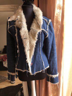 Chaqueta de invierno azul-blanco puro