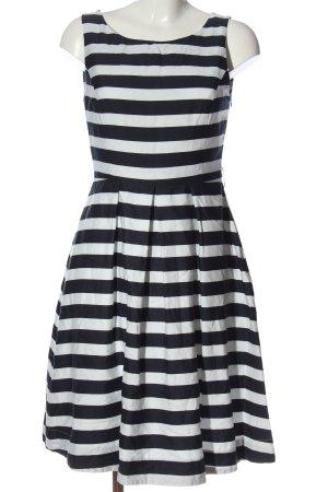 Jake*s A-Linien Kleid schwarz-weiß Allover-Druck Casual-Look