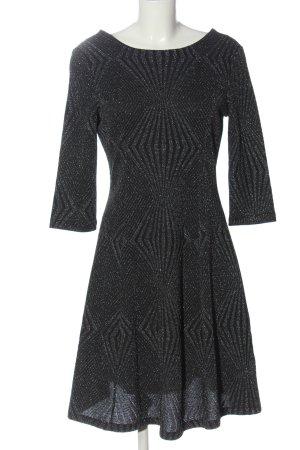 Jake*s A-Linien Kleid schwarz-silberfarben Elegant