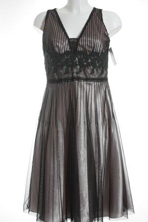 Jake*s A-Linien Kleid schwarz-hellrosa extravaganter Stil