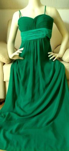 jake*s Abendkleid 34 XS dunkelgrün bodenlang grün Raffung
