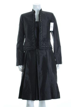 Jake*s Abendkleid schwarz Paillettenverzierung