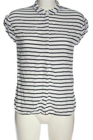 Jake*s ärmellose Bluse weiß-schwarz Streifenmuster Elegant
