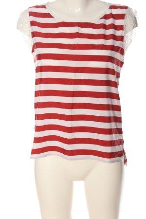 Jake*s ärmellose Bluse rot-weiß Streifenmuster Casual-Look