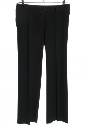 Jake*s Anzughose schwarz-weiß Streifenmuster Casual-Look