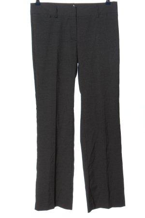 Jake*s Anzughose schwarz-weiß abstraktes Muster Casual-Look