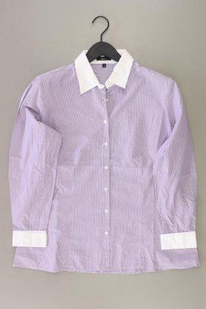 Jake*s Bluse Größe 46 gestreift 3/4 Ärmel lila aus Baumwolle