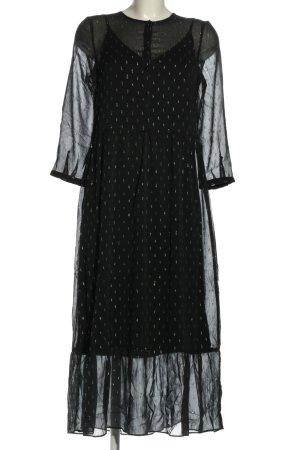 Jake*s Blusenkleid schwarz-silberfarben Allover-Druck Elegant