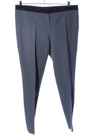 Jake*s Pantalon à pinces noir-gris clair imprimé allover style d'affaires