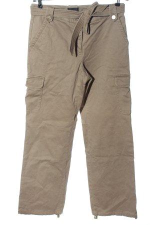 Jake*s Pantalone cargo crema motivo a righe stile casual