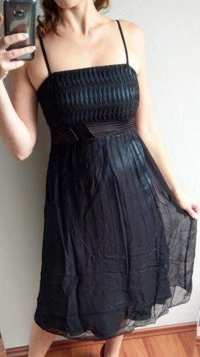 Jake*s Cocktailkleid Midi Kleid Abiballkleid Gr 38 blau schwarz