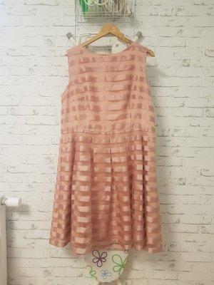 JAKE*S Cocktailkleid pink Streifenmuster Elegant Damen Gr. DE 46 Kleid Dress