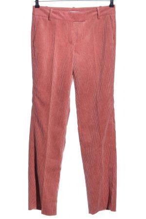 Jake*s Pantalon en velours côtelé rouge style d'affaires