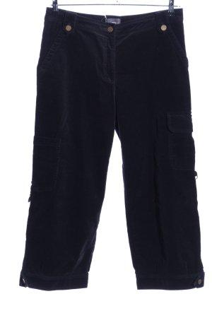 Jake*s Pantalon en velours côtelé noir style décontracté