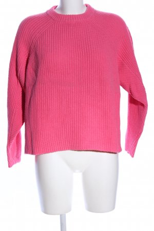 Jake*s Coarse Knitted Sweater pink cable stitch casual look