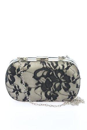 Jake*s Handtasche wollweiß-schwarz Blumenmuster Elegant