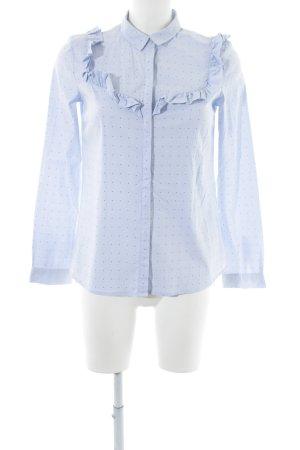 Jake*s Hemd-Bluse blau Punktemuster klassischer Stil