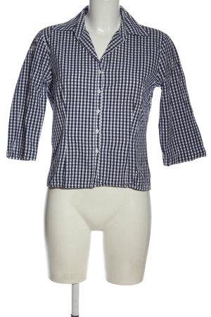 Jake*s Hemd-Bluse blau-weiß Allover-Druck Business-Look