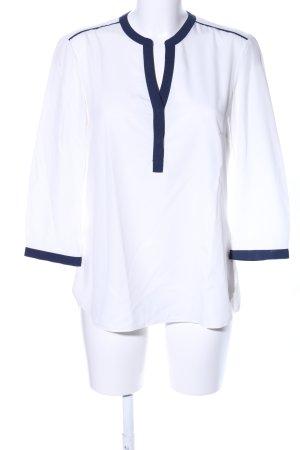 Jake*s Hemd-Bluse weiß-blau Streifenmuster Business-Look
