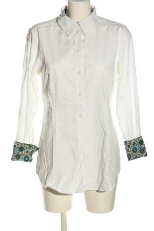 Jake*s Hemd-Bluse weiß abstraktes Muster Casual-Look