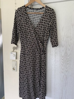 Jake*s Jersey Dress black-natural white