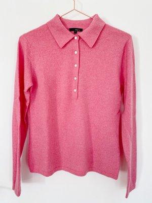Jake*s Kaschmir Pullover mit Polo Kragen Gr. S Pink NEU