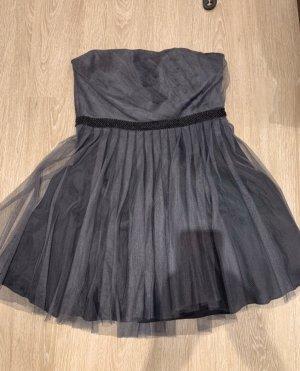 Jake's Kleid grau schwarz Tüll