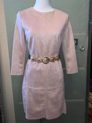 Jake`s Kleid in Lederoptik gr 38 Farbe Beige seitlich Zwei Taschen Neu