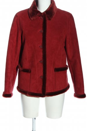 Jake*s Giacca in eco pelliccia rosso stile casual