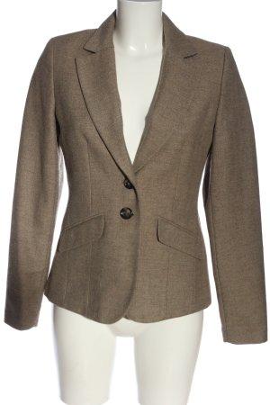 Jake*s Korte blazer bruin Webpatroon zakelijke stijl