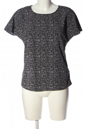 Jake*s Kurzarm-Bluse Allover-Druck Casual-Look