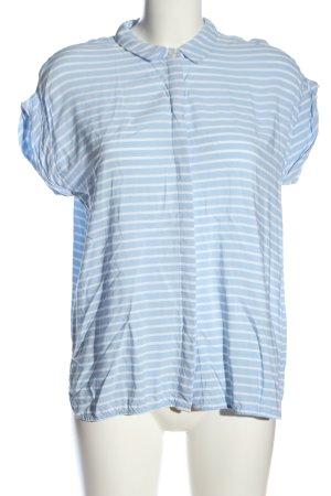 Jake*s Kurzarmhemd blau-weiß Streifenmuster Casual-Look