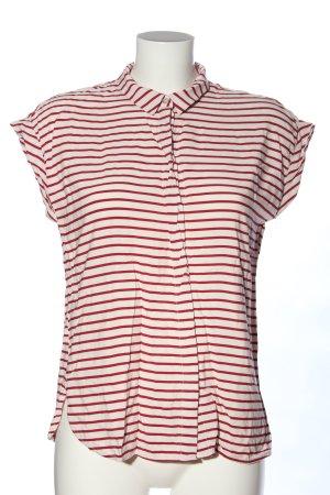 Jake*s Shirt met korte mouwen wit-rood gestreept patroon casual uitstraling