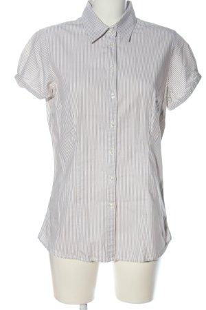 Jake*s Kurzarmhemd weiß-wollweiß Streifenmuster Casual-Look