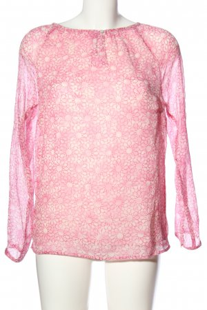Jake*s Langarm-Bluse pink Allover-Druck Casual-Look