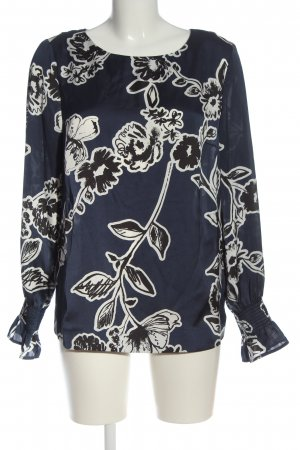 Jake*s Langarm-Bluse Allover-Druck Casual-Look
