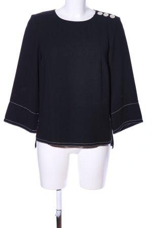 Jake*s Langarm-Bluse schwarz Casual-Look